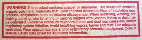 Heed the warnings on packaging!