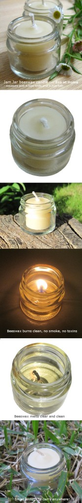 Beeswax Jamjar tealight candles