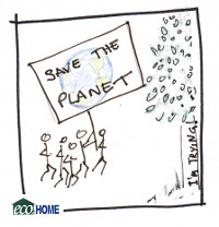 Save the Planet placards